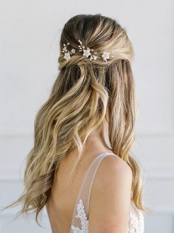 wedding hair pins, floral hair pins, bridal hair pins