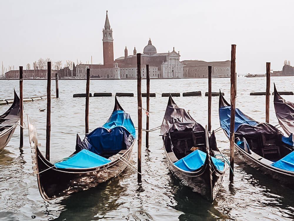 Gondola ride in Venice Italy