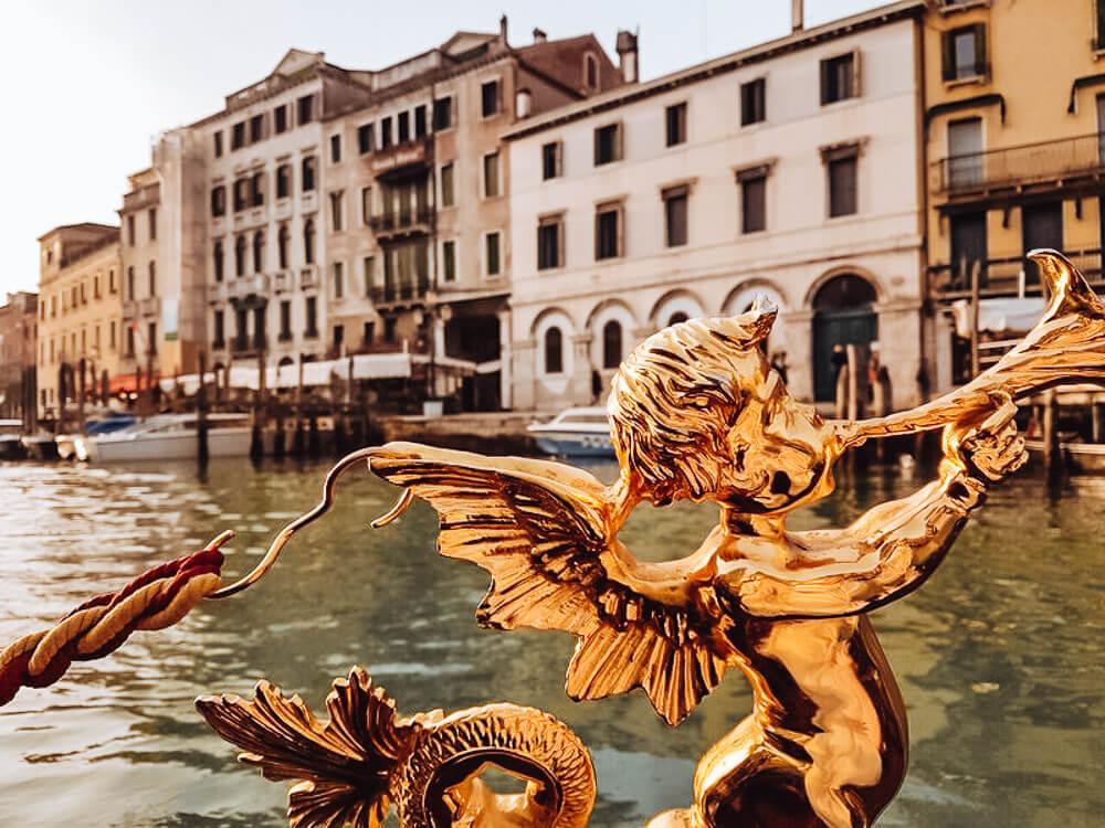 Gondola ride through Venice