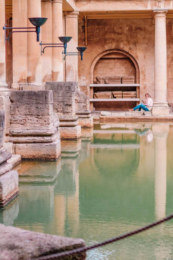 Roman Baths in Bath City Uk