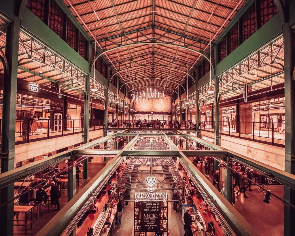 Koszyki Indoor Market in Warsaw Poland
