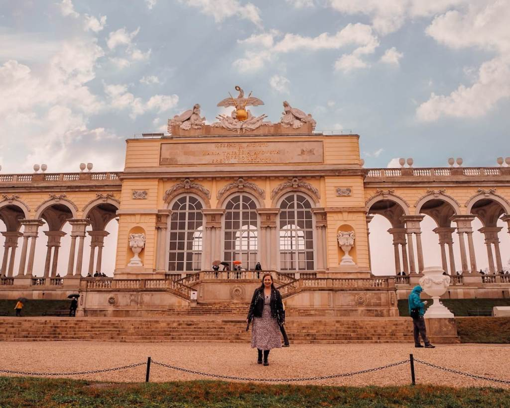 Gloriette in Schonbrunn Palace in Vienna