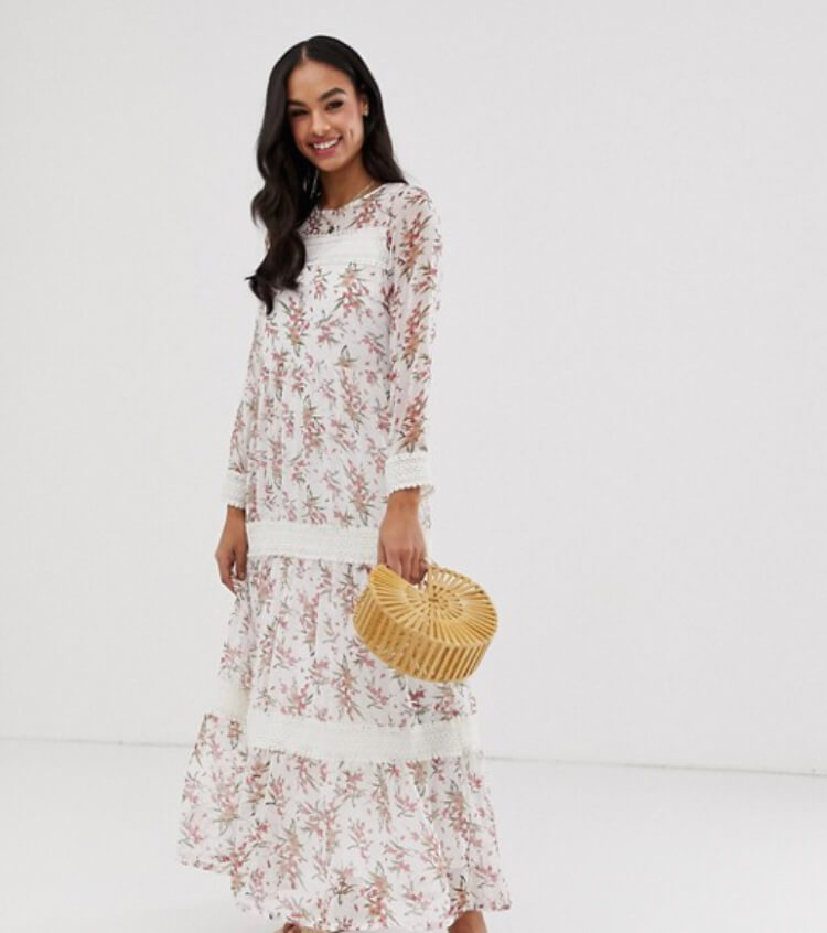 3. Y.A.S festival floral sheer maxi dress with crochet detail. The perfect festival look. Read more on www.allaboutrosalilla.com