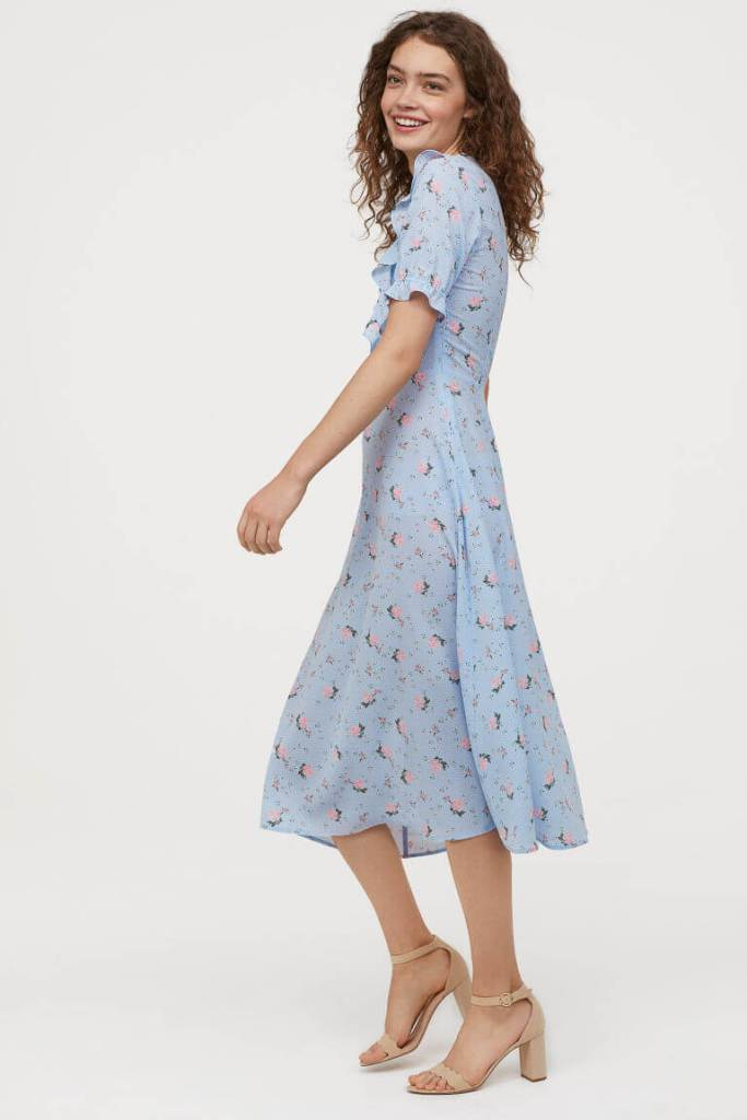 H&M Blue Flounced Dress . My top 10 floral dresses from the highstreet.