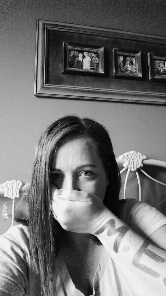 woman raising awareness for myalgic encephalomyelitis