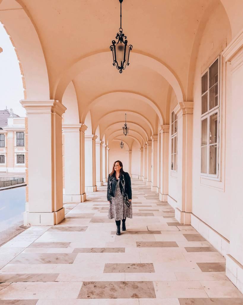 Beautiful arches in Vienna Austria