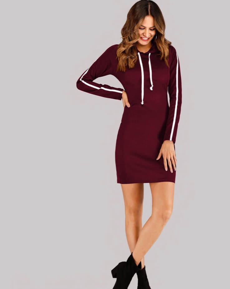 Hooded dress. Fashion with chronic illness. Read more on www.allaboutrosalilla.com