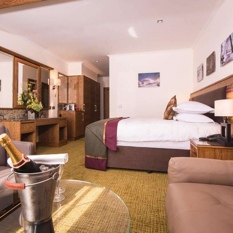 Deluxe bedroom at Galgorm spa and golf resort