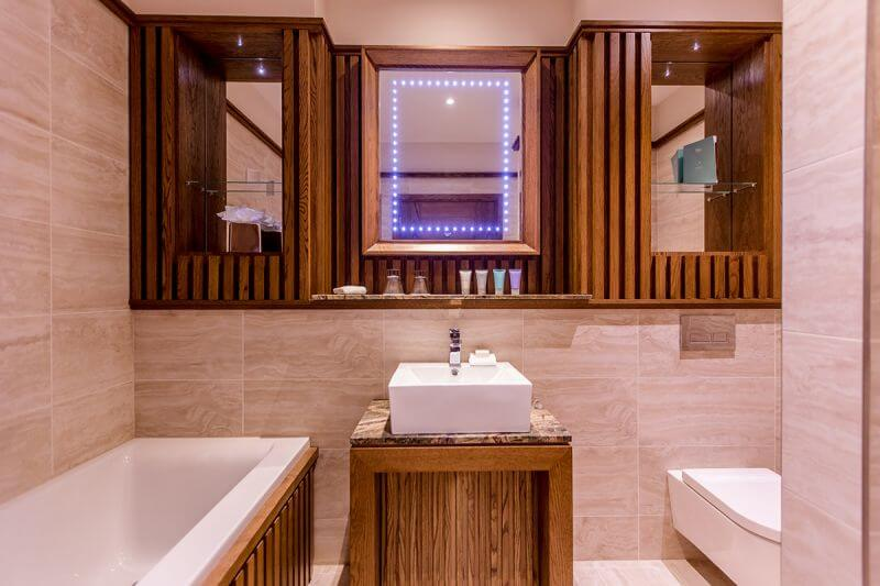 Deluxe bathroom at Galgorm spa and golf resort