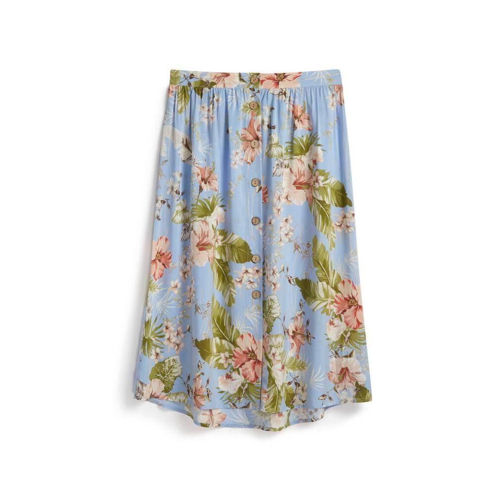Blue Floral Skirt Primark