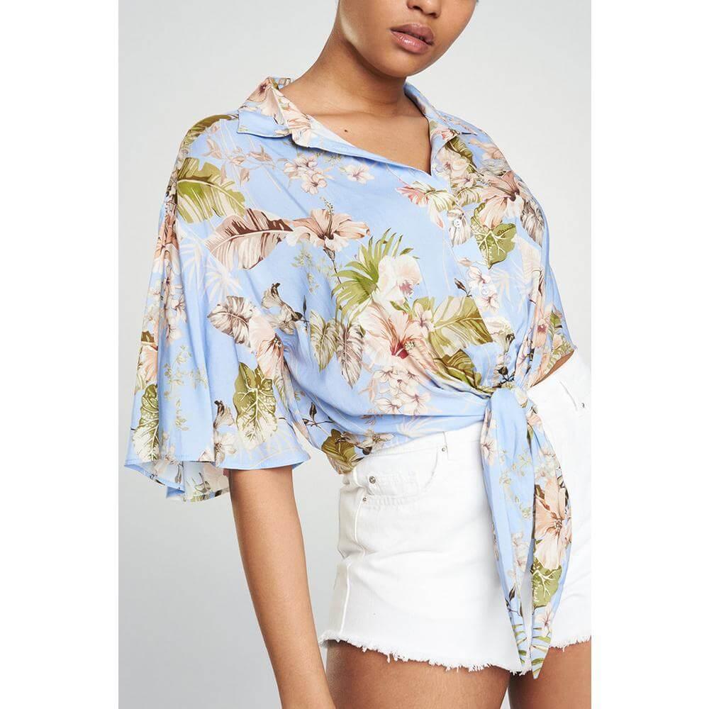 Blue Floral Shirt Primark