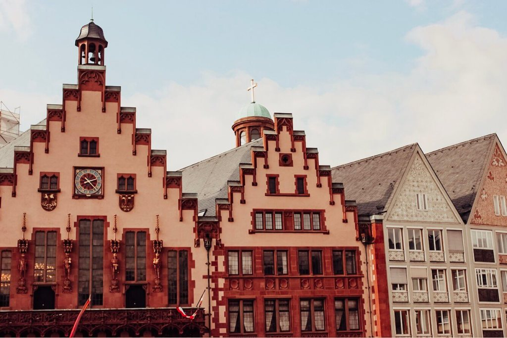 Beautiful architecture in Frankfurt Germany