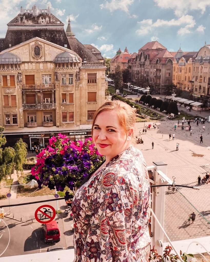 The main square in Timisoara Romania. Read more on www.allaboutrosalilla.com