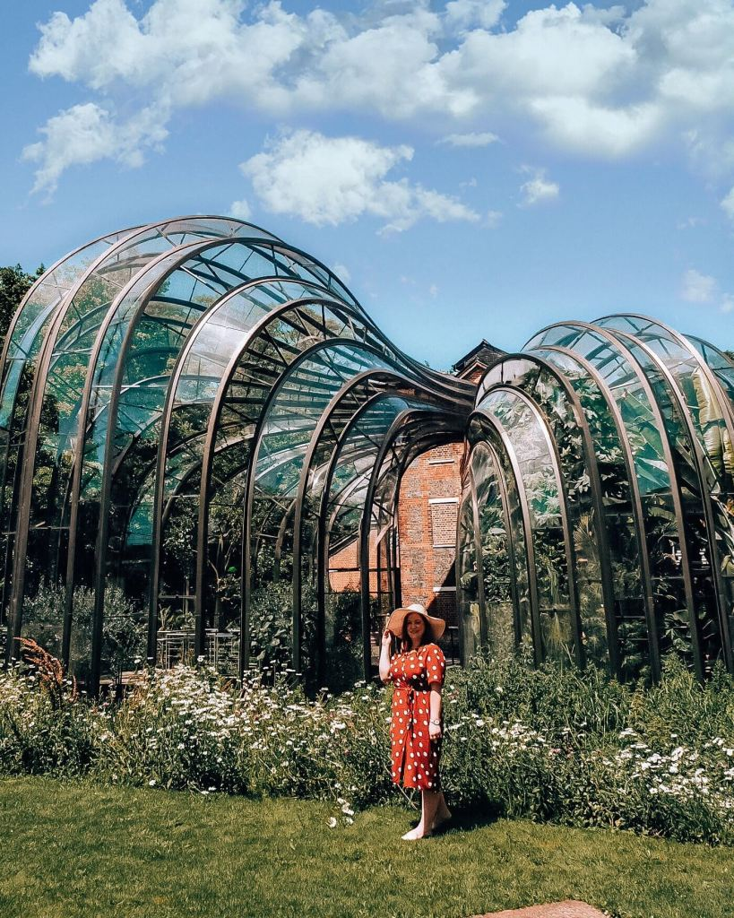 Botanical glasshouse of Bombay Sapphire Gin Distillery on a roadtrip around some of Cotswolds villages