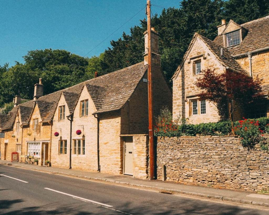 The beautiful village of Bibury in The Cotswolds.