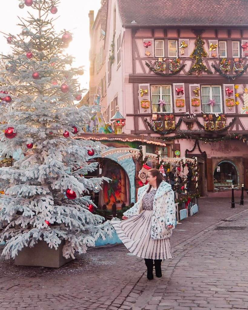 Giant Christmas tree in Colmar France.