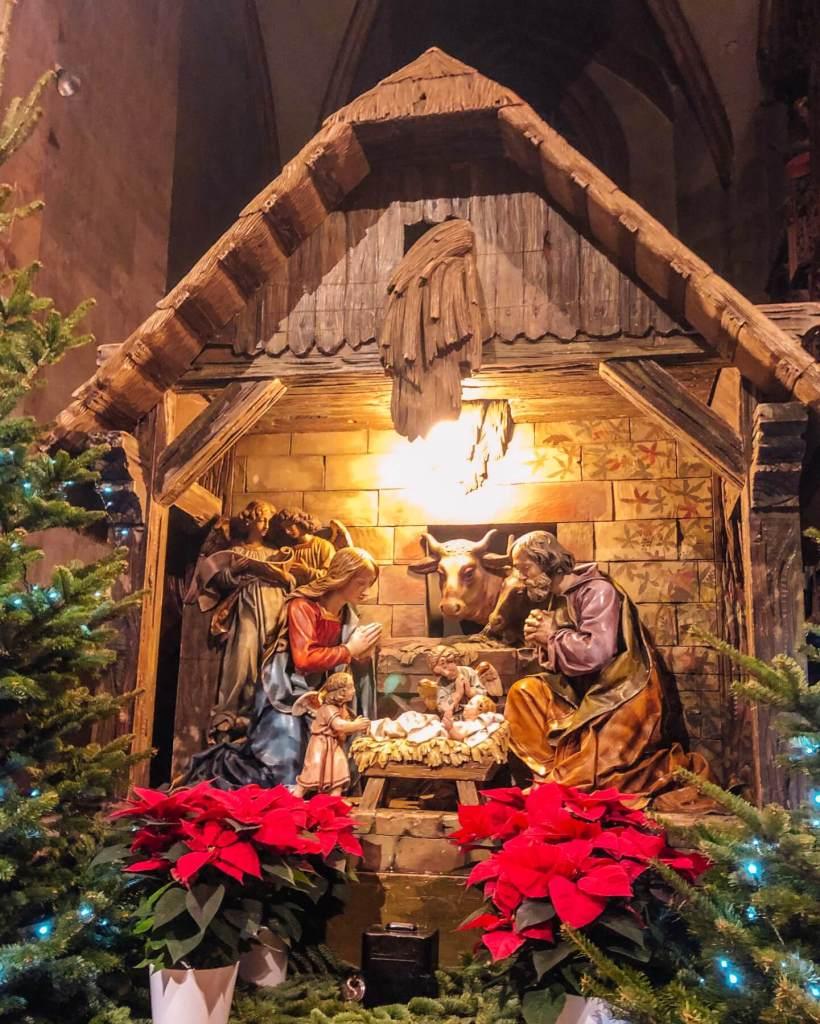 Nativity scene at Christmas in Colmar.