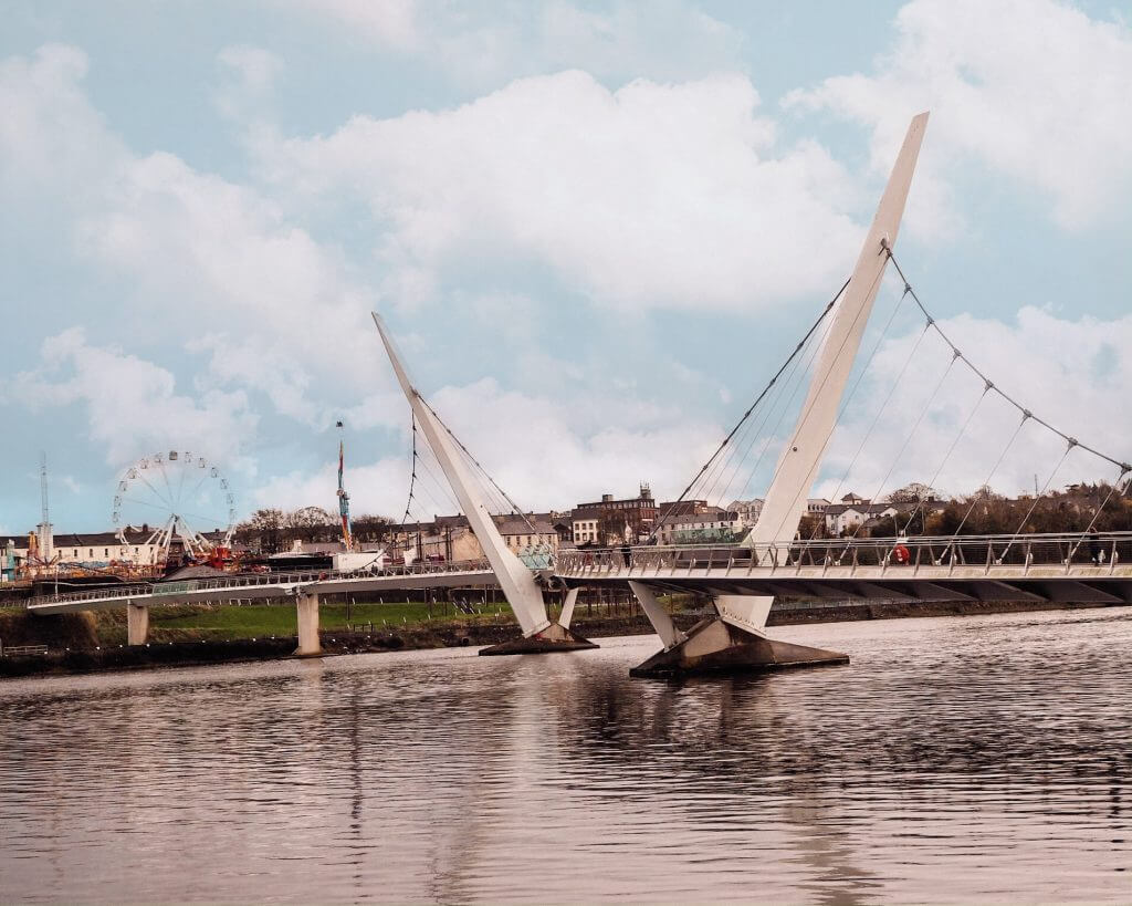 The Peace bridge in Derry Northern Ireland