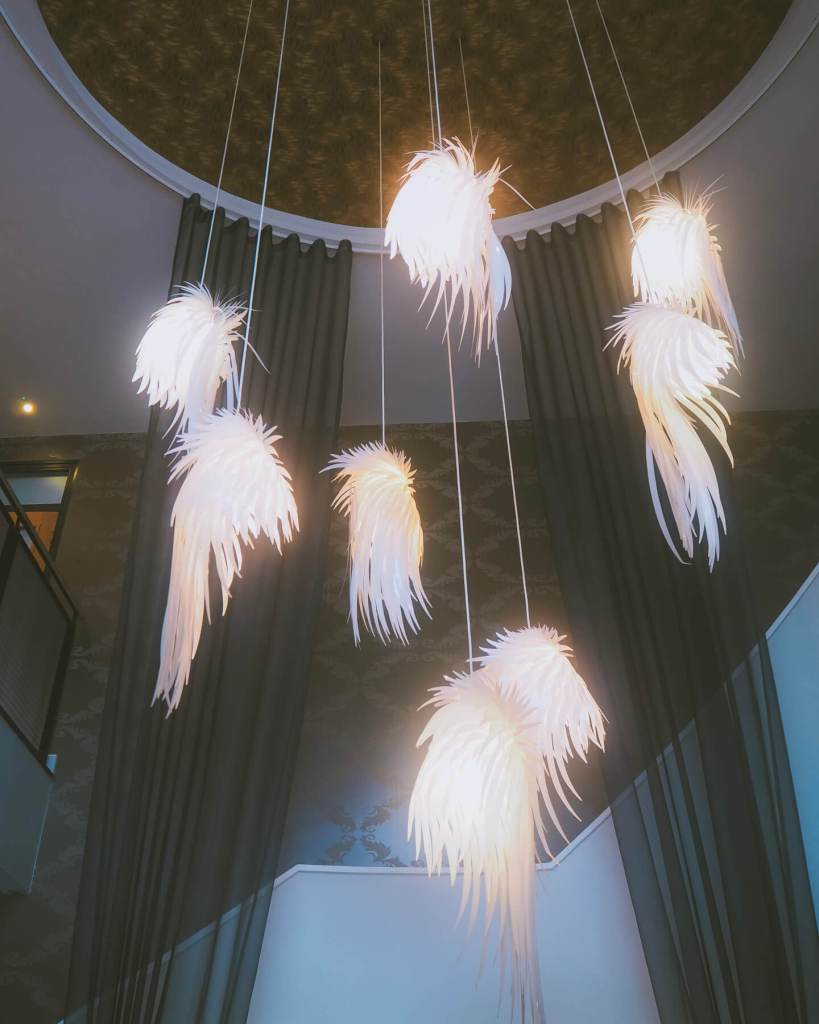 Light installation in The Cornwall Hotel and Spa. Read more on www.allaboutrosalilla.com