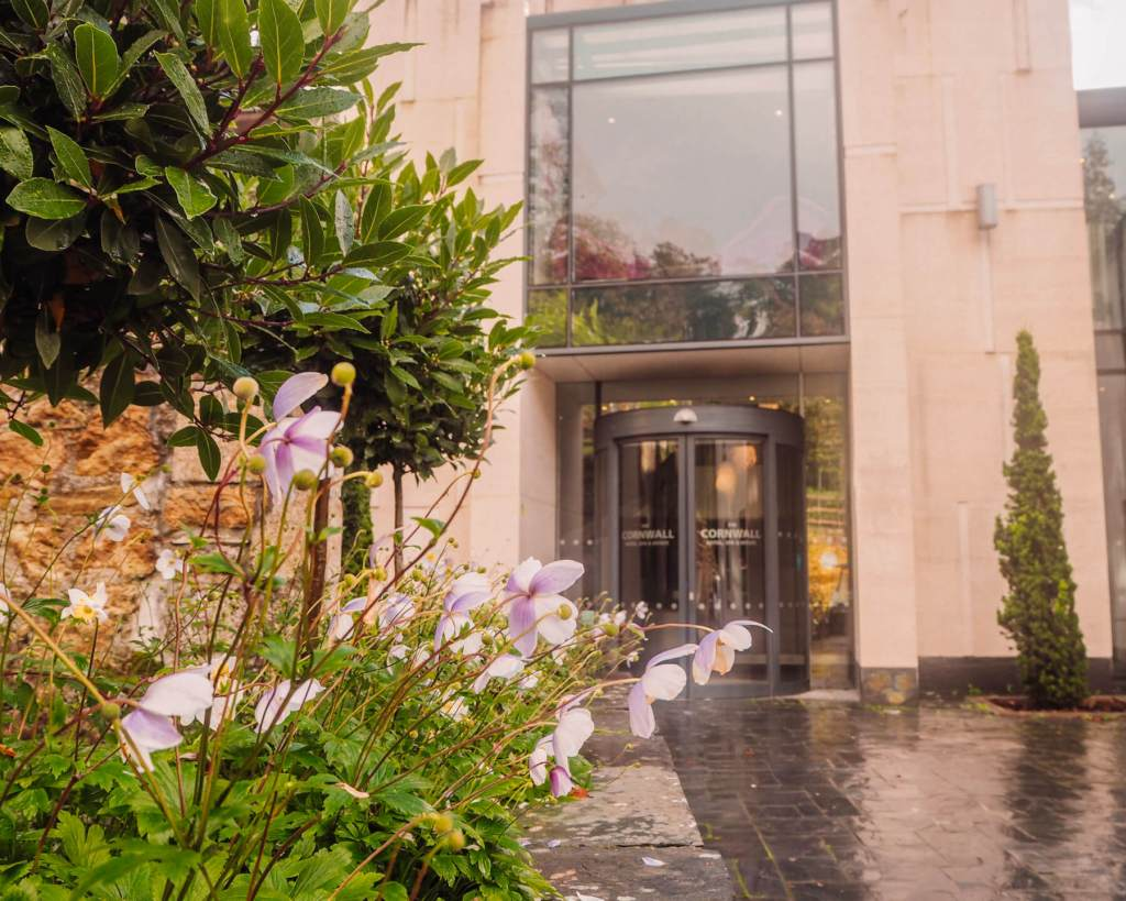 The entrance to reception at The Cornwall Hotel and Spa. Read more on www.allaboutrosalilla.com