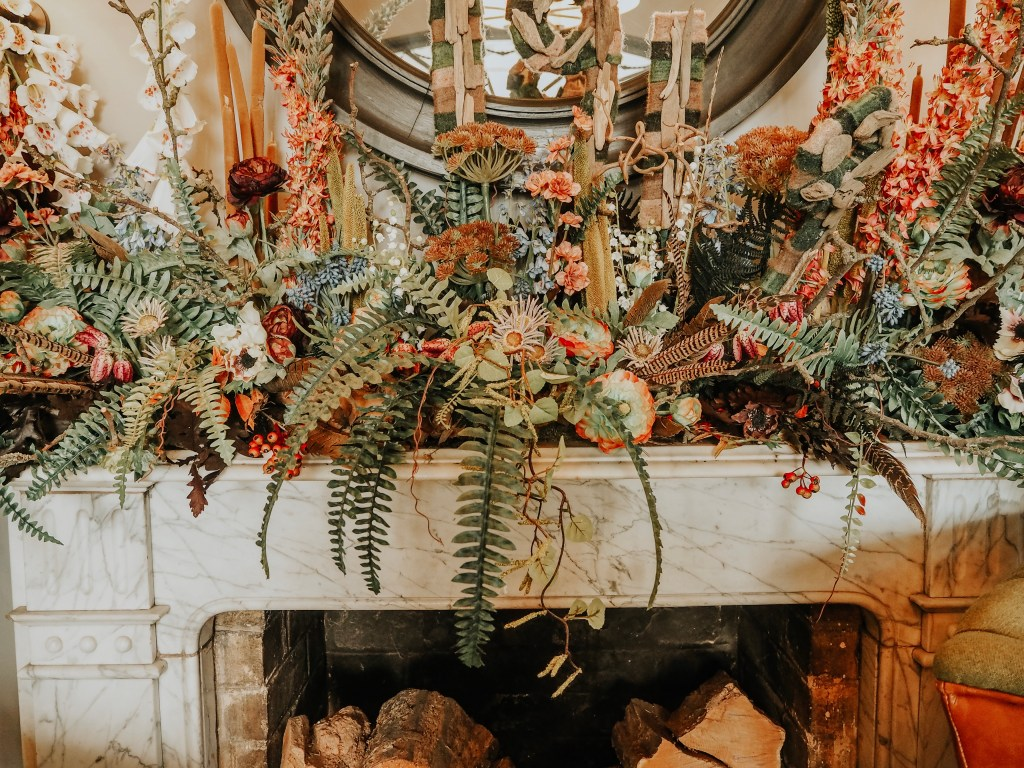 Country foliage on Mantlepiece