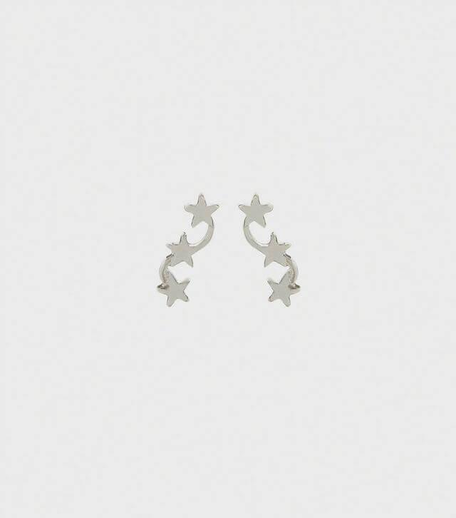 New Look Silver Star Crawler Earrings