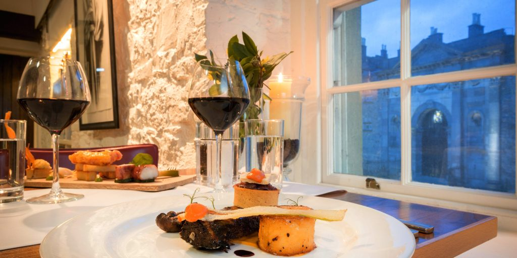 Anocht Restaurant in Kilkenny with views of Kilkenny castle