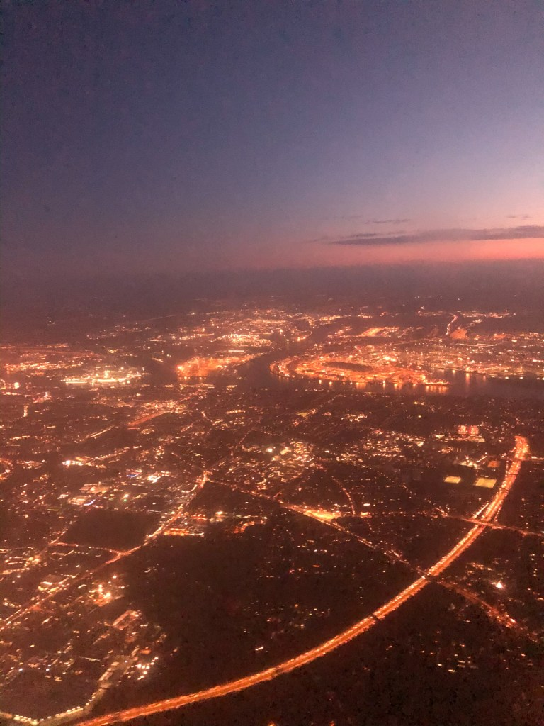 View of Hamburg city from the air