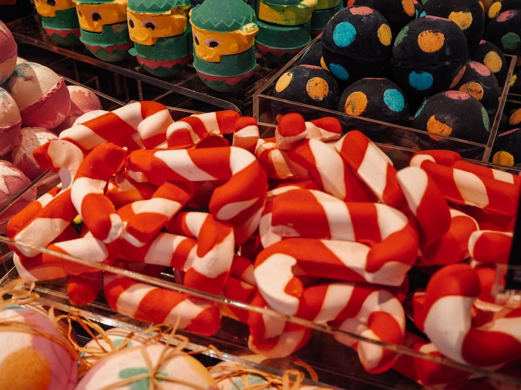 Christmas product range at Lush
