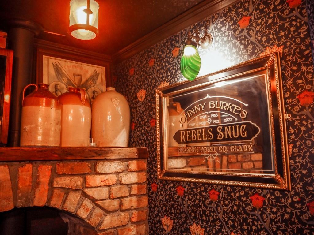Cosy corner of a pub in Ireland