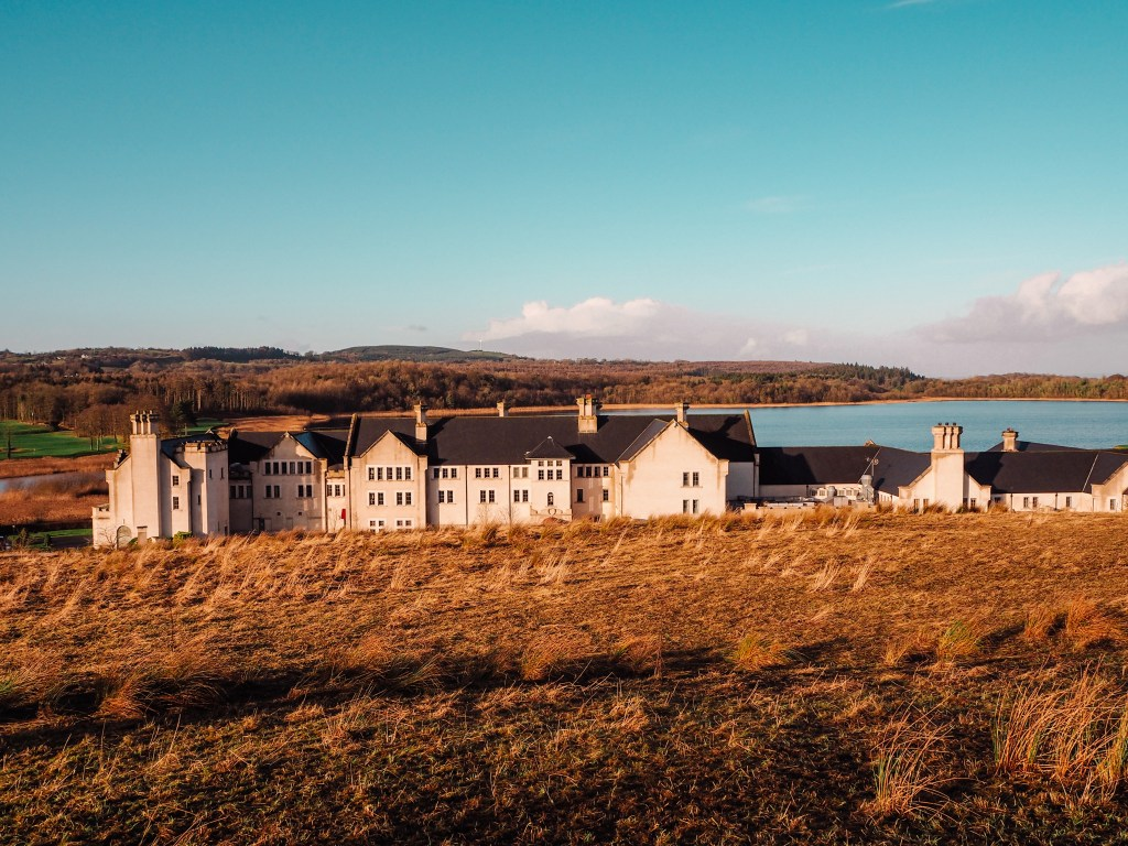Elevated views of Lough Erne Golf Resort from Hole 6.