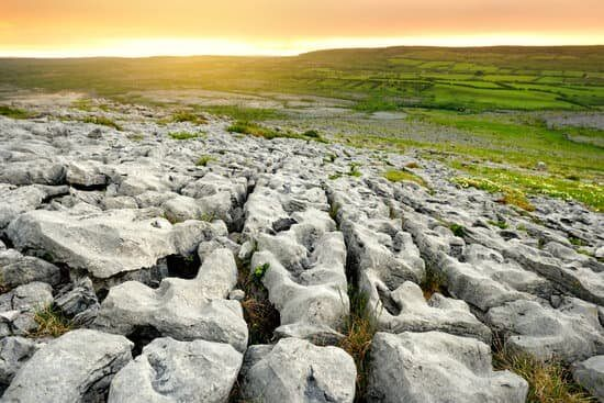 Rugged limestone landscape of The Burren in County Clare Ireland