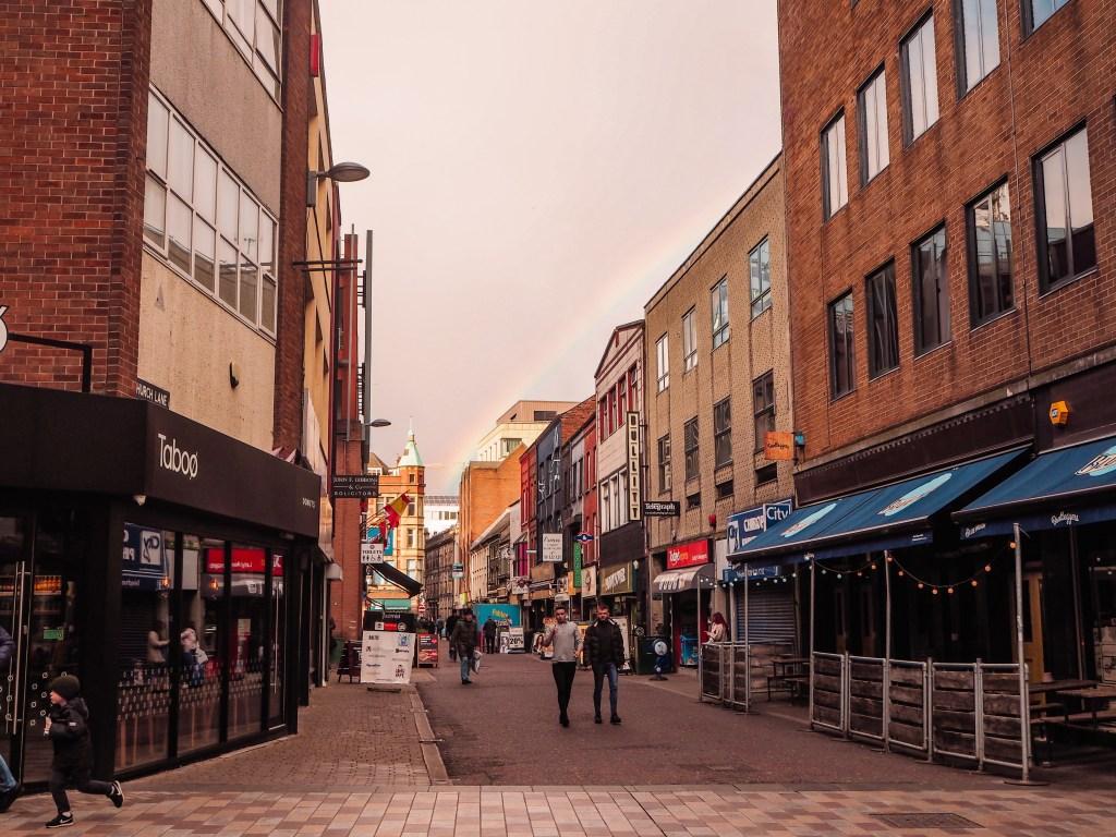 Rainbows over Belfast Streets