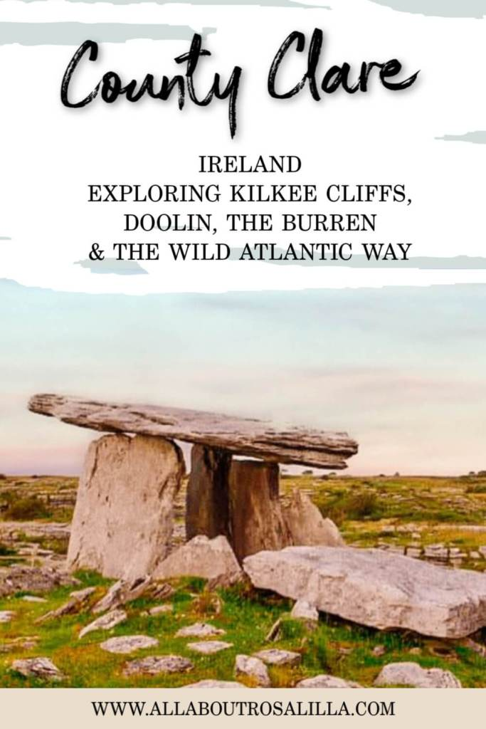 Dolmen in County Clare with text overlay