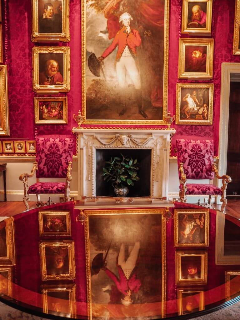 Red room of Hillsborough castle