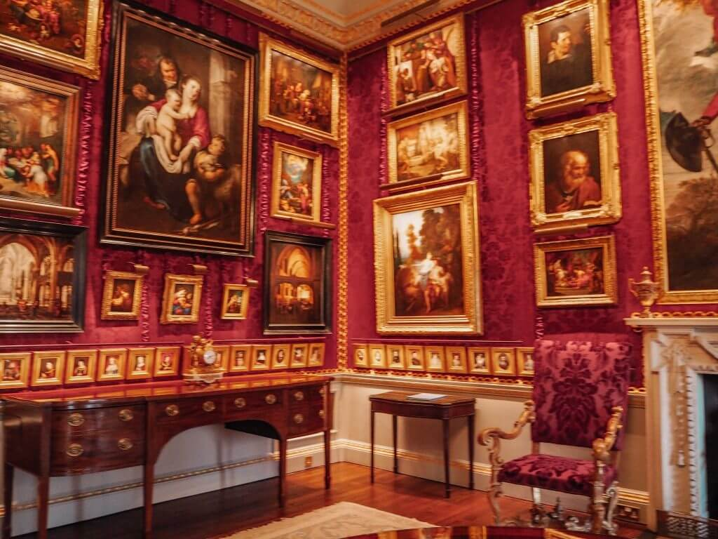 Red Room in Hillsborough Castle Northern Ireland