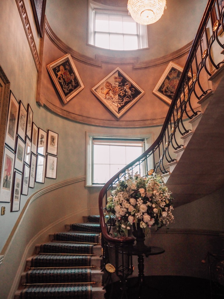 Ornate Staircase in Hillsborough Castle one of Northern Ireland Castles