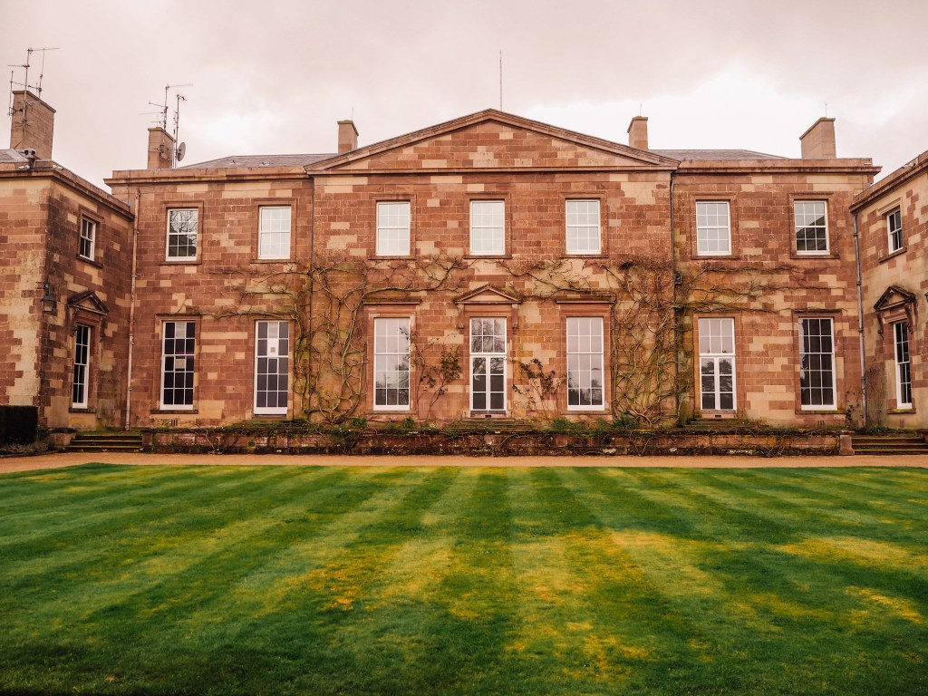 Facade of Hillsborough Castle in Northern Ireland