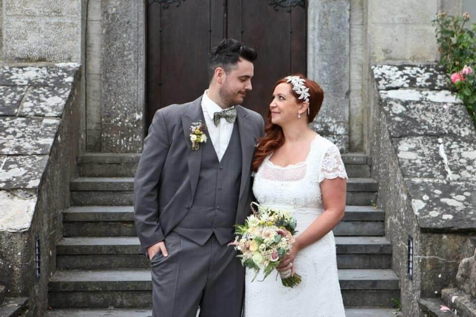 Irish couple on their wedding day