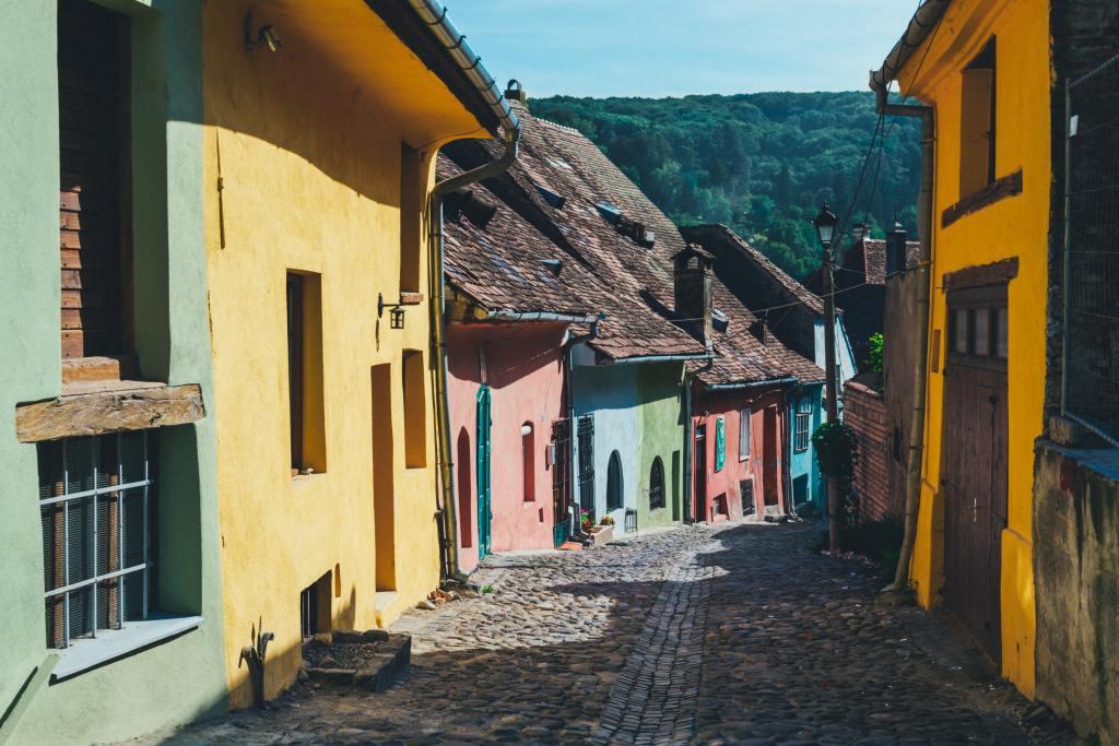 Colourful houses of Sighisoara Romania