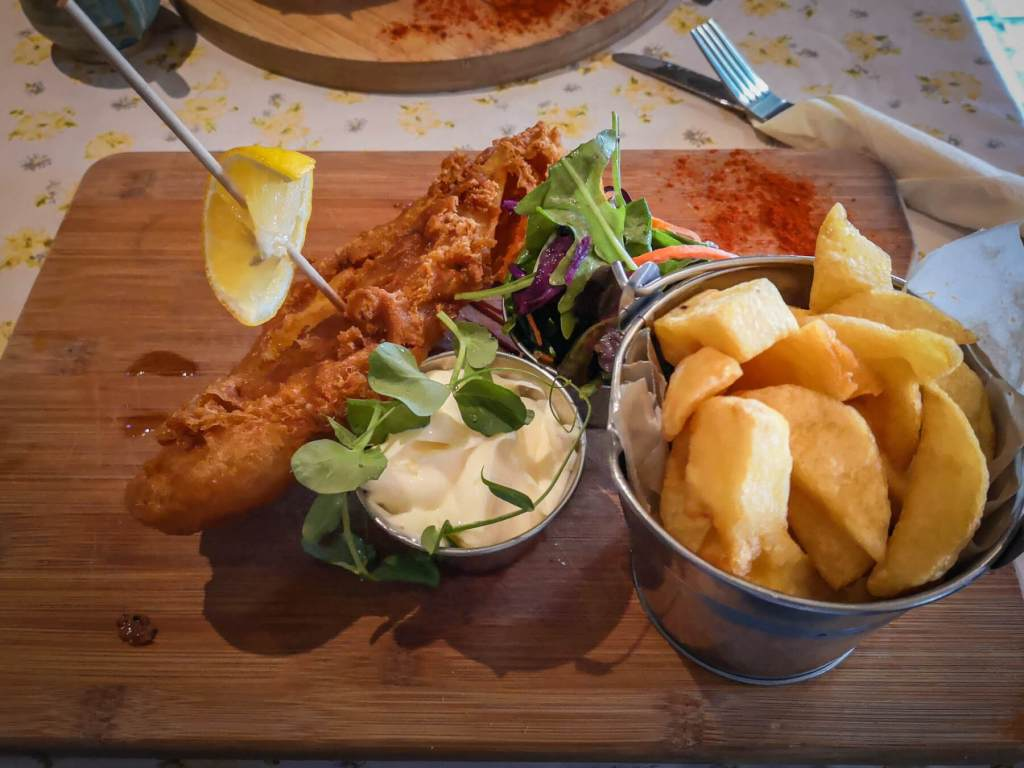 Fish and chips at Nancy's Barn Ballyliffin