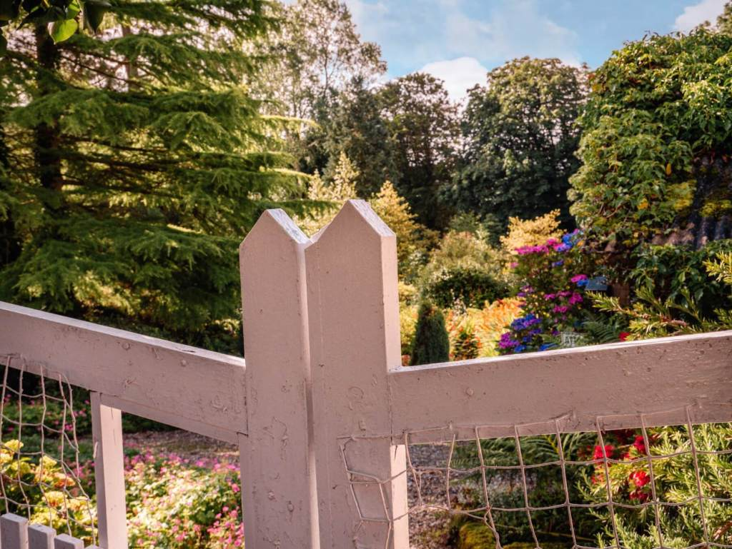 Gates entering the gardens at Dunmore house and gardens in county Donegal