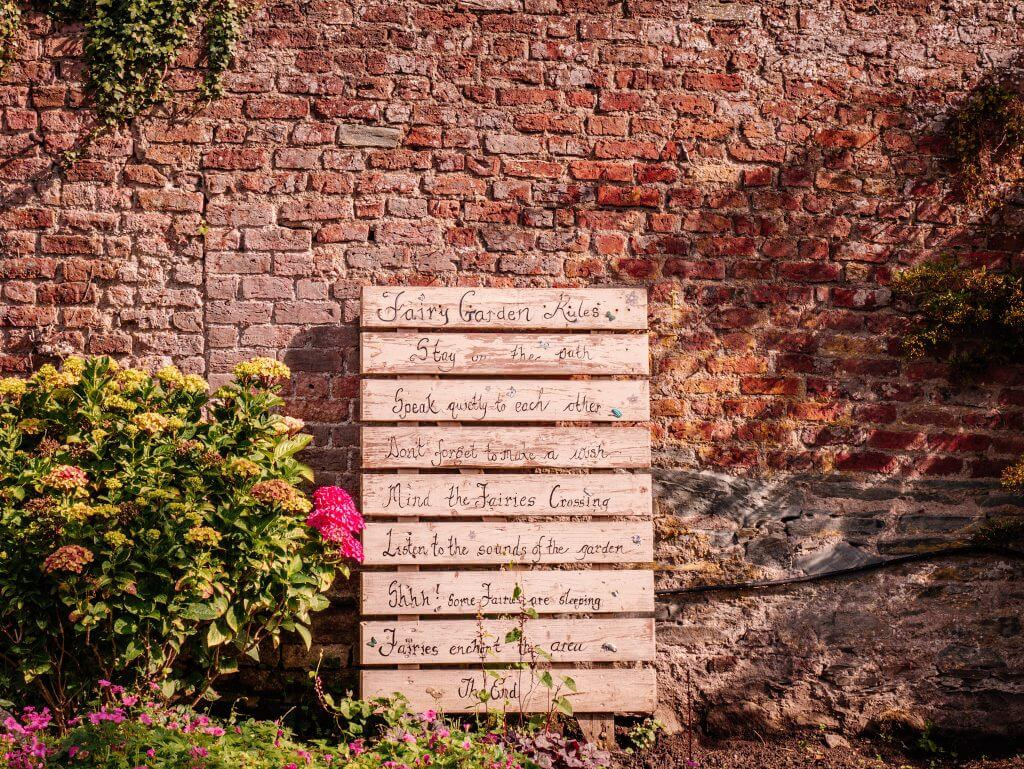 Fairytale signs at Dunmore House and Gardens. Staycation Ireland Ideas.
