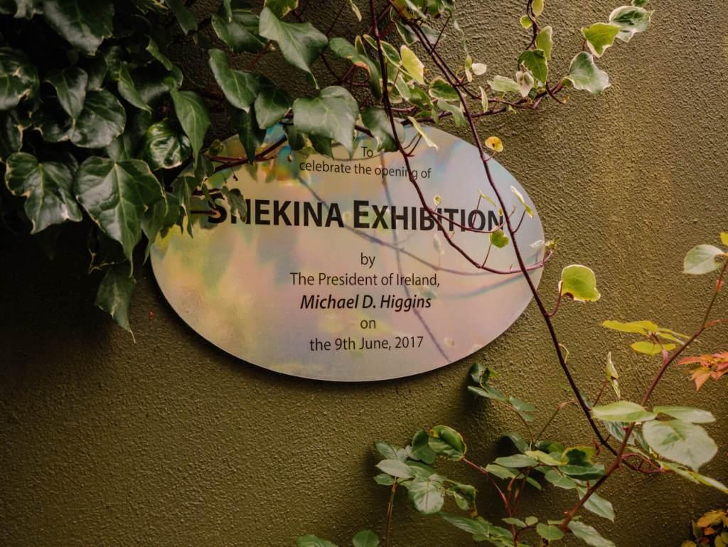 Sign for Shekina Exhibition at Shekina Sculpture Garden
