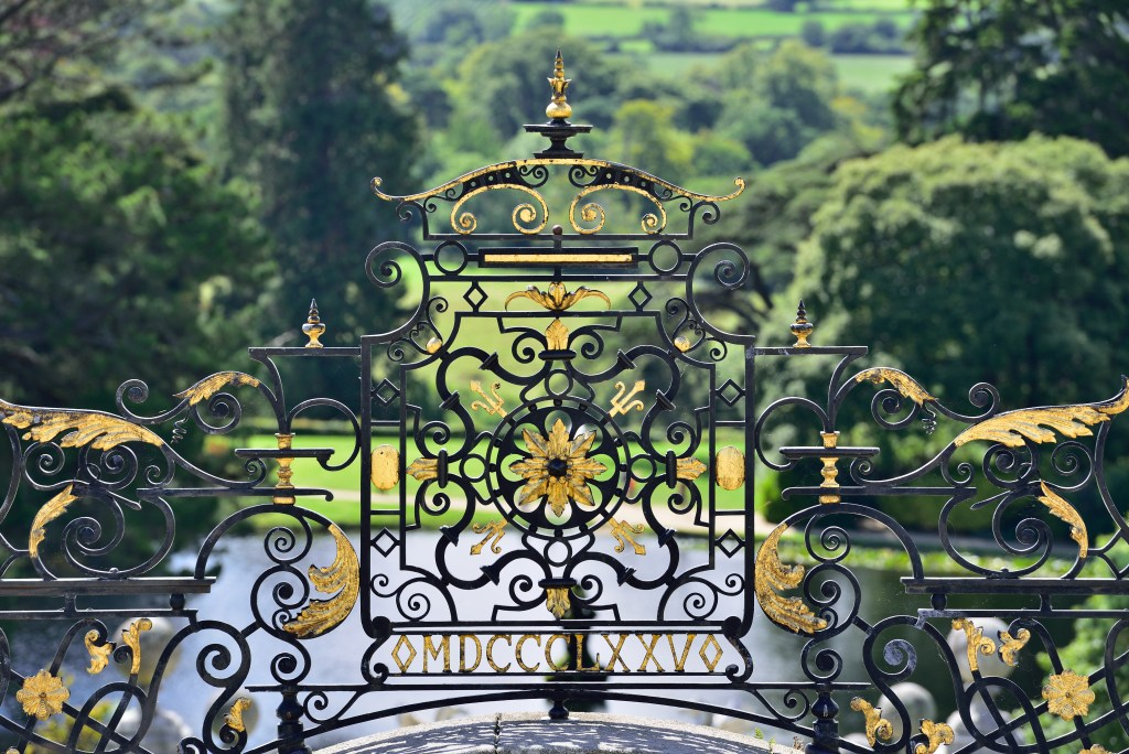 Gates at Powerscourt Estate in Wicklow Ireland