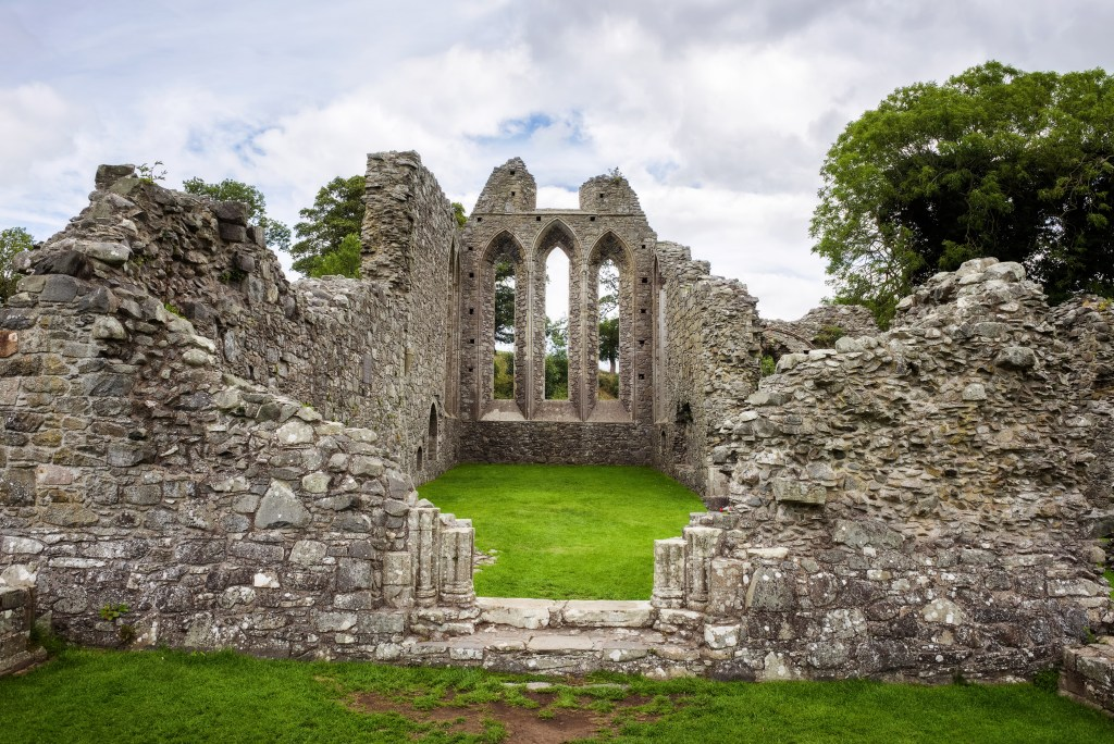 Inch Abbey near Tollymore Forest in Northern Ireland a filming location for Game of Thrones