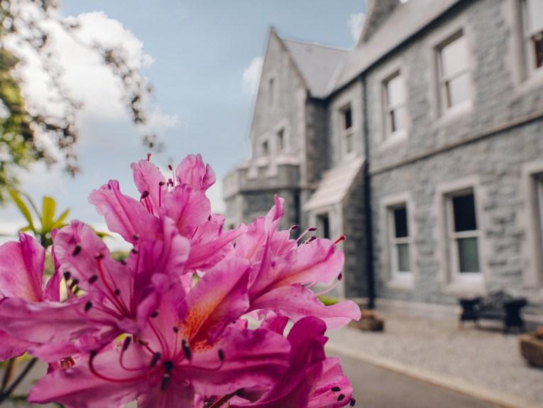 Exterior of Mount Falcon Estate Ireland a beautiful manor house in Ireland