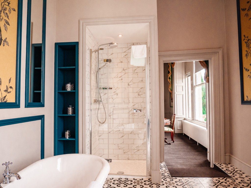Bathroom of a manor house suite in the Lyrath Estate in Kilkenny the perfect place to spend a weekend