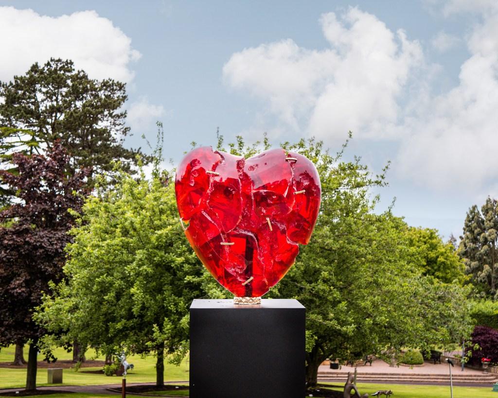 Patrick O'Reilly Broken Heart Sculpture at the Art & Soul fair at Culloden Estate