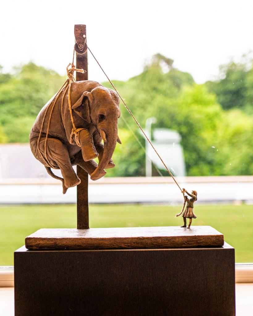 Stefano Bombardieri sculpture at Art & Soul Culloden